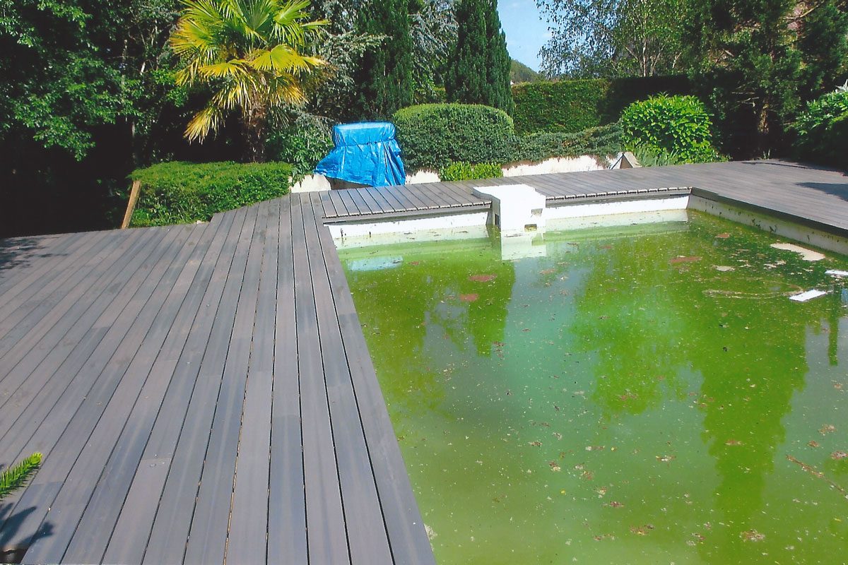 Stunning terrasse piscine composite gris photos for Terrasse piscine bois composite