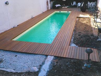 Nos terrasses en bois exotique - Couloir de nage en bois ...