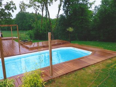 Nos terrasses en bois exotique for Luminaire terrasse bois